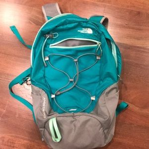 Turquoise north face backpack